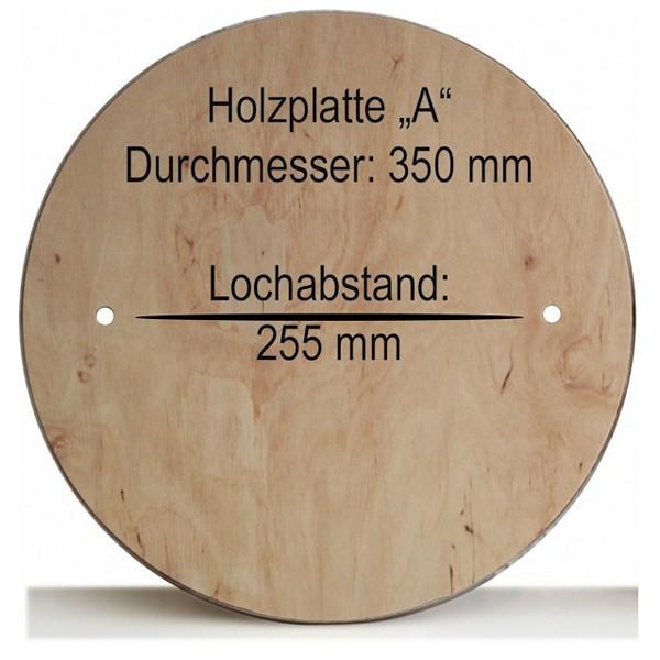 """Holzplatte """"A"""" 350 mm, NEU Lochabstand 255 mm"""